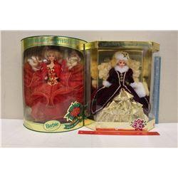 Happy Holiday Special Edition Barbie Dolls (2)(1993,1996)(NIB)
