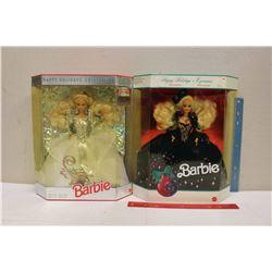Happy Holiday Special Edition Barbie Dolls (2)(1991,1992)(NIB)