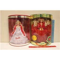 Happy Holiday Special Edition Barbie Dolls (2)(1993,2001)(NIB)