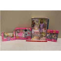 Lot of Matel Dolls (NIB)(Kelly Dolls(3),A Midge and Baby& Lovable Babies)