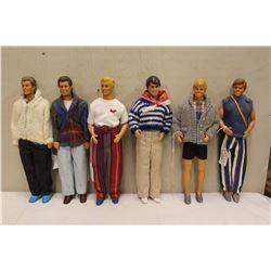 Lot of Ken Fashion Dolls (6)