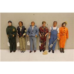Lot of Ken Dolls (5)w/ G.I Joe Doll