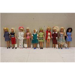 Lot of 1980's Skipper Mattel Dolls (10)
