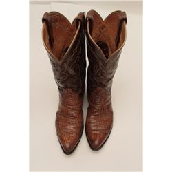 "Bonanza lot of 3 pairs of boots; one pair of  ""Black Viper"" Tony Llama size 8 men's boots  in good t"