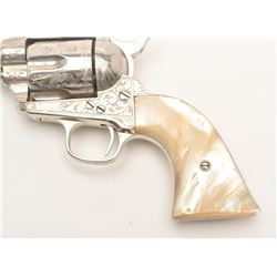 """Very rare Colt Sheriff's Model Single Action  revolver, factory engraved, .44-40, 4""""  barrel, old re"""