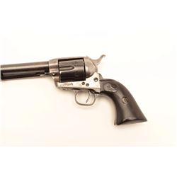 "Colt SAA revolver, .38 W.C.F. caliber, 5.5""  barrel, blued and case hardened finish,  checkered blac"