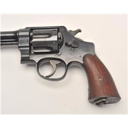 Smith and Wesson Hand Ejector Service Model  of 1917, .45 ACP caliber, Serial #6872.  The  pistol is