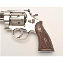 Smith and Wesson Pre-Model 27 Post-War  revolver, .357 Magnum, Serial #S76898.  The  pistol is in fi
