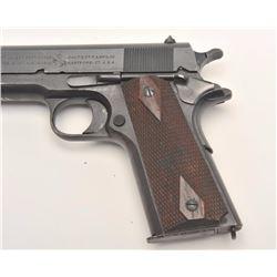 Colt Model of 1911 U.S. Army semi-auto  pistol, .45 caliber, Serial #420248.  The  pistol is in fine