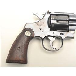 """Colt Officer's Model DA revolver, .38   caliber, 4.5"""" barrel with King front sight,   blued finish,"""