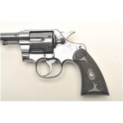 "Colt Army Special DA revolver, .32-20 W.C.F.   caliber, 6"" barrel, high polish blued  finish,  check"