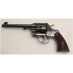 """Colt Officer's Model flat top target DA  revolver, .38 caliber, 6"""" barrel, blued  finish, checkered"""