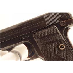 Colt Model 1908 semi-automatic pistol, S/N  330628, in excellent condition.          (C&R).       Es