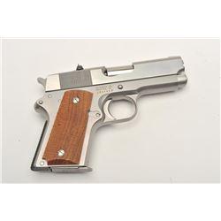 "Detonics MK VI semi-automatic pistol, .45  caliber, 3.5"" barrel, stainless, checkered  wood grips, S"