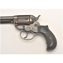 """Colt Model 1877 """"Lightning"""" DA revolver, .38  caliber, 4.5"""" barrel, blued and case hardened  finish,"""