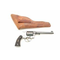 "Colt Police Positive DA revolver, .38 Special  caliber, 6"" barrel, high polish blued  finish, checke"