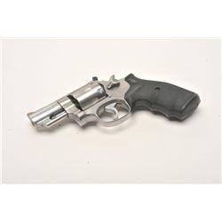 "Smith & Wesson Model 66-2 DA revolver, .357  Magnum caliber, 2.5"" barrel, stainless,  checkered hard"