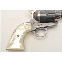 """Colt 2nd Generation SAA revolver, .357 Magnum  caliber, 7.5"""" barrel, blued and case  hardened finish"""