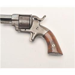 "Allen & Wheelock spur trigger revolver, .22  caliber, 3"" octagon barrel, blued finish,  wood grips,"