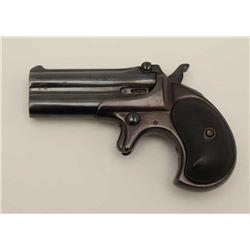 Antique Remington over under .41 caliber  derringer with one line address. Re-blued and  left hinge