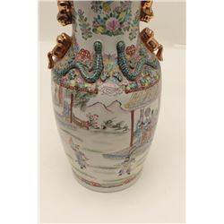 """Large antique Chinese floor vase,  approximately 27"""" in height, very good  condition and finely acco"""