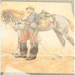 Original art of French soldier.    Est.:   $250-$500.