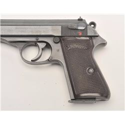 "Walther Model PP semi-automatic pistol, Eagle  ""F"" police proof, 7.65mm caliber, 3.75""  barrel, blue"