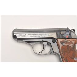 "Walther Model PPK pre-war Commercial  semi-automatic pistol, 7.65mm caliber, 3""  barrel, blued finis"