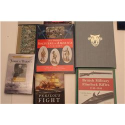 Lot of approximately 10 hardback books   primarily on military-related subjects   including Troiani'