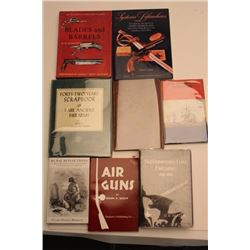 Lot of approximately 10 hardback books   including books on Lefaucheux firearms, Air   Guns, Super-i