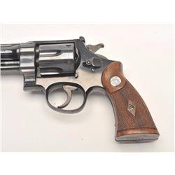 "Smith and Wesson Pre-Model 27 ""Unregistered""  revolver, .357 Magnum caliber, Serial #60238.   The pi"