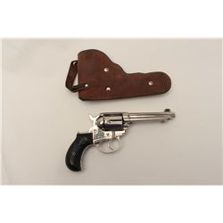 Colt 1877 Lightning in .38 caliber, S/N  123995 showing a re-nickel finish and made  early 1900's wi