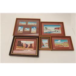 Five original Robert Draper miniature.       From the estate of Elmer E. Taylor.     Est.:   $150-$3