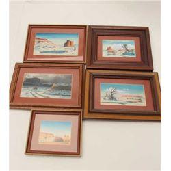 Five original Robert Draper miniatures.      From the estate of Elmer E. Taylor.     Est.:   $150-$3