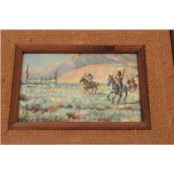 Oil on canvas signed Gordon G. Pond (Winslow,  AZ); inscribed as gift to Elmer E. Taylor  (1982); ap