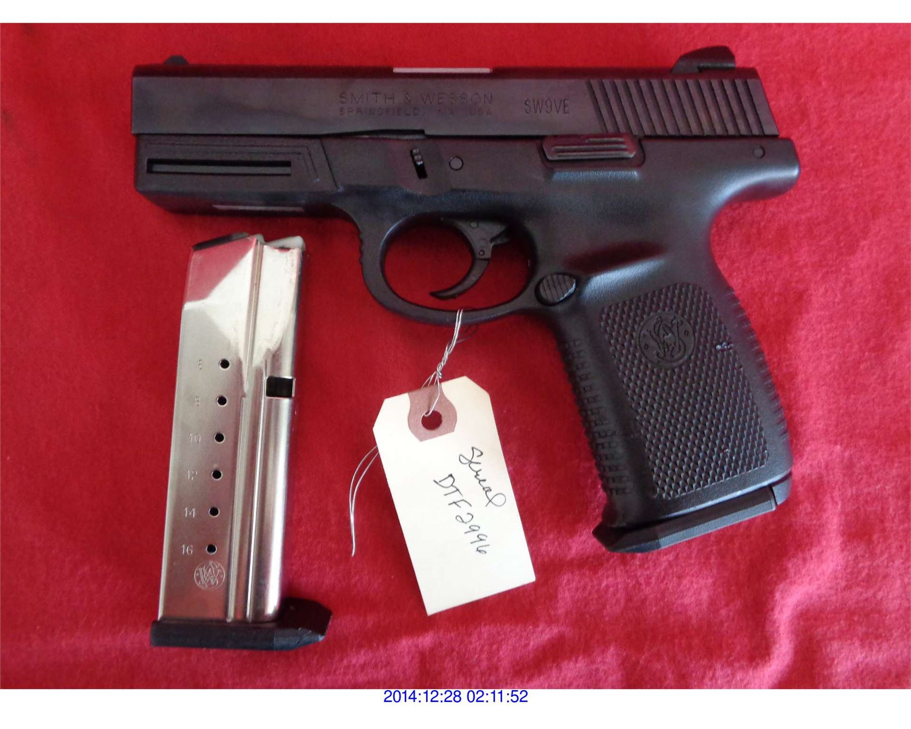 smith and wesson sw9ve serial number location