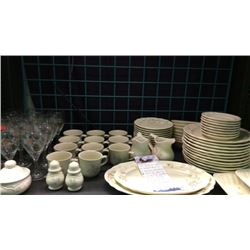 Shelf of a Set of dishes