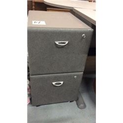 Locking filing cabinet (has key)