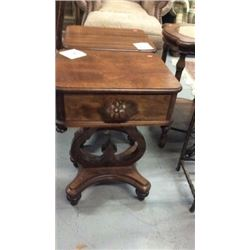 Walnut Victorian nightstand