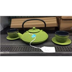 Gaia team kettle and cup set (green)