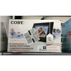 """Coby""  7"" widescreen digital photo frame"