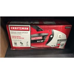 """Craftsman"" 3/4 hp garage door opener"
