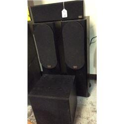 "Set of 4 ""phase"" speakers"