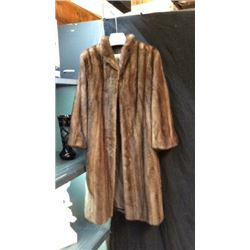 Mink Ladies Long Coat by Alaska Arctic Furs