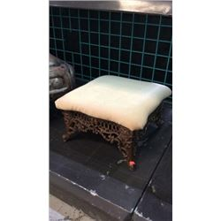 Cast Iron Base Foot Stool