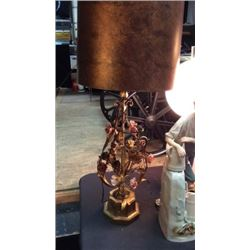 Brass Rose Lamp