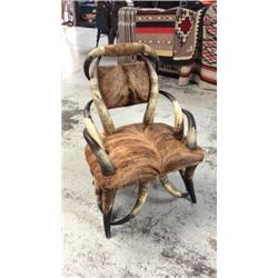 Steer Horn And Hide Chair