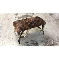"""3ft X 18"""" Longhorn Steer Bench"""