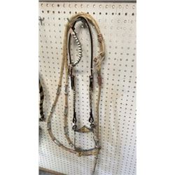 Fancy Silver Gallery Bridle With Rawhide Romal