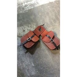 Heavy Leather Horn Bag